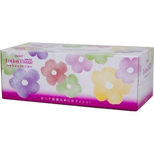 Салфетки бумажные Kami Shodji ELLEMOI Lotion с экстрактом малины 2 слоя 200 шт в пачке