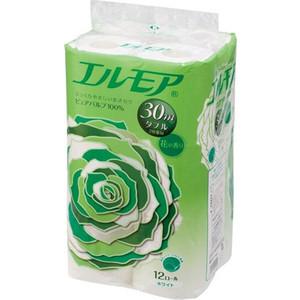 Туалетная бумага Kami Shodji ELLEMOI ароматизированная 2 слоя, 12 рулонов 30 м