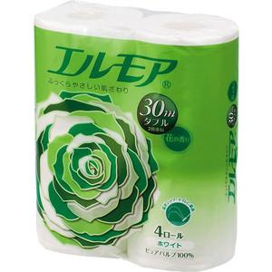 Туалетная бумага Kami Shodji ''ELLEMOI'' ароматизированная 2 слоя, 4 рулона 30 м