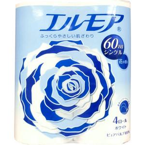 Туалетная бумага Kami Shodji ELLEMOI ароматизированная 1 слой 4 рулона, 60 м