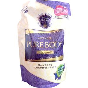 Гель для душа MITSUEI Pure Body увлажняющий с гиалуроновой кислотой, коллагеном и экстрактом алоэ ароматом лаванды (запаска) 400 мл