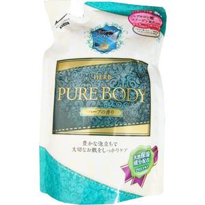 Гель для душа MITSUEI Pure Body увлажняющий с гиалуроновой кислотой, коллагеном и экстрактом алоэ с ароматом луговых трав (запаска) 400 мл