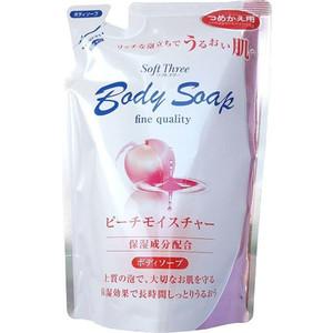 Гель для душа MITSUEI Soft Three интенсивно увлажняющий с экстрактом персика (запаска) 400 мл гель для душа wins peach увлажняющий с экстрактом листьев персика запаска 400 мл