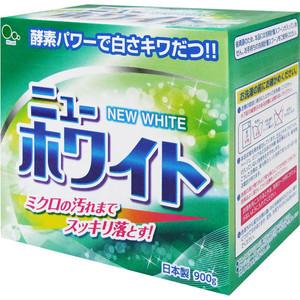 Стиральный порошок MITSUEI New White с отбеливателем и ферментами, для стойких загрязнений 900 г