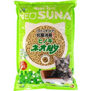Наполнитель Neo Loo Life Suna комкующийся на основе дробленной древесины кипариса (смываемый в канализацию) для кошек 6л