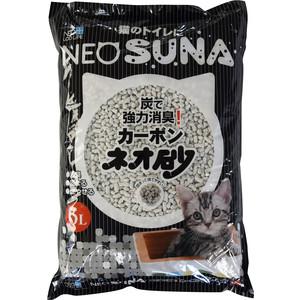Наполнитель Neo Loo Life Neo Suna комкующийся с активированным углем для кошек 6л очищающая маска с активированным углем aravia отзывы