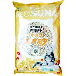 Наполнитель Neo Loo Life Suna комкующийся с интенсивной защитой от запаха, на основе соевых бобов (смываемый в канализацию) для кошек 6л
