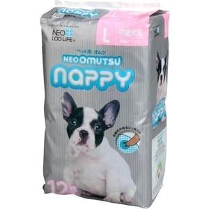 Подгузники Neo Loo Life Omutsu Nappy размер L для собак весом 7-12кг 12шт