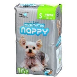 Подгузники Neo Loo Life Omutsu Nappy размер S для собак весом 3-6кг 16шт