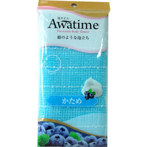Мочалка для тела OHE Awatime жесткая, создания большого количества пены 100 см синяя