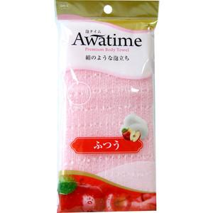 Мочалка для тела OHE Awatime средней жесткости, создания большого количества пены 100 см розовая