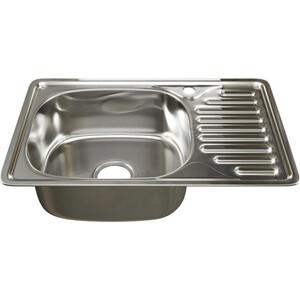 Кухонная мойка Mixline Врезная 66x42 с сифоном, нержавеющая сталь 0,8мм (4620031448617)