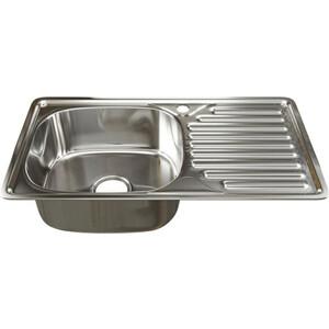 Кухонная мойка Mixline Врезная 76x42 с сифоном, нержавеющая сталь 0,8мм (4620031448884)