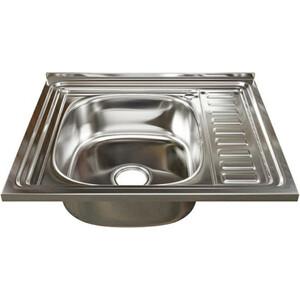 Кухонная мойка Mixline 60x50 с сифоном, нержавеющая сталь 0,6мм (4640030862429)