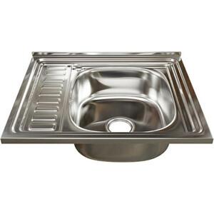 Кухонная мойка Mixline 60x50 с сифоном, нержавеющая сталь 0,6мм (4640030862436)