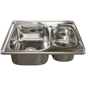 Кухонная мойка Mixline Врезная 63x50 с сифоном, нержавеющая сталь 0,8мм (4640030862467)