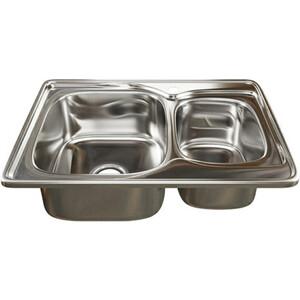 Кухонная мойка Mixline Врезная 70x50 с сифоном, нержавеющая сталь 0,8мм (4640030862474)
