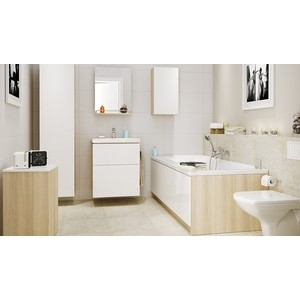 Мебель для ванной Cersanit Smart 55 корпус ясень, фасад белый мебель ясень официальный сайт