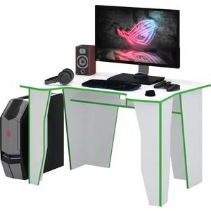 Стол компьютерный Мастер Страйкер (белый/зелёный) МСТ-СКС-БТ-ЗЛ-16
