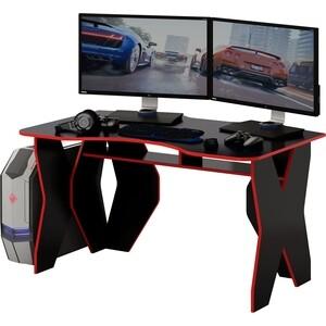 Стол компьютерный Мастер Таунт (чёрный/красный) МСТ-СКТ-ЧР-КР-16