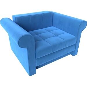 Кресло-кровать АртМебель Берли велюр синий