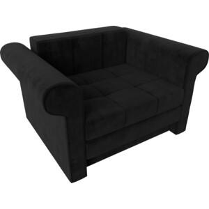 Кресло-кровать АртМебель Берли велюр черный