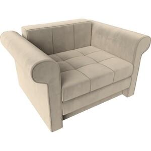 Кресло-кровать АртМебель Берли вельвет бежевый