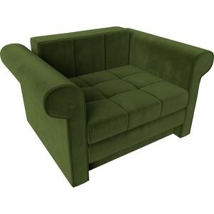 Кресло-кровать АртМебель Берли вельвет зеленый
