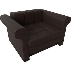 Кресло-кровать АртМебель Берли экокожа коричневый