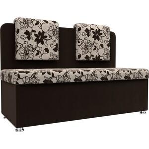 Кухонный прямой диван АртМебель Маккон 2-х местный рогожка на флоке вельвет коричневый диван 2 х местный secret de maison бронко bronco 1193 2 х местный из натуральной кожи доступные цвета античный тёмный