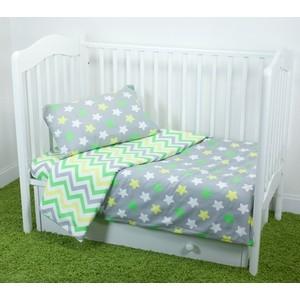 Комплект постельного белья для малышей Magic City Серое созвездие КПБМР-ПП-019