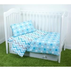 Комплект постельного белья для малышей Magic City Бирюзовое созвездие КПБМР-ПП-020
