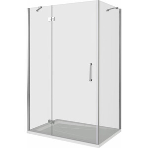 Душевой уголок Good Door Saturn WTW-110-C-CH-L + SP-100-C-CH 110x100 (СА00005 СА00011)