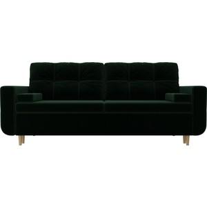 Прямой диван Лига Диванов Кэдмон велюр зеленый прямой диван лига диванов кэдмон велюр зеленый