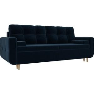 Прямой диван Лига Диванов Кэдмон велюр синий прямой диван лига диванов кэдмон велюр зеленый