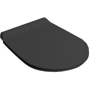 Сиденье для унитаза Simas Vignoni с микролифтом, черный/хром (VI004nero bril/cr) сиденье для унитаза simas lante с микролифтом la008noce cr