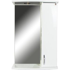 Шкаф-зеркало Orange Диана 50 с подсветкой, белый (Di-50ZS)