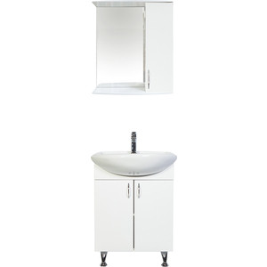 Мебель для ванной комнаты Orange Роса 60 белый для ванной комнаты мебель