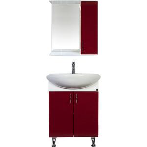 Мебель для ванной комнаты Orange Роса 60 бордовая