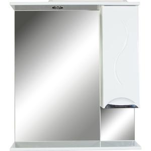 Шкаф-зеркало Orange Глория 75 с подсветкой, белый, правый (Gl-75ZS)