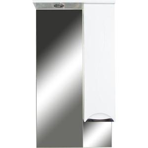 Шкаф-зеркало Orange Глория 60 с подсветкой, белый, правый (Gl-60ZS)