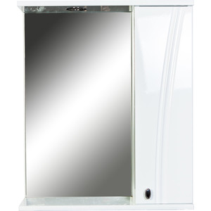 Зеркало-шкаф Orange Лотос 60 с подсветкой, белый (Lo-60ZS)