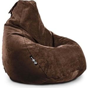 Кресло мешок GoodPoof Груша велюр L шоколад