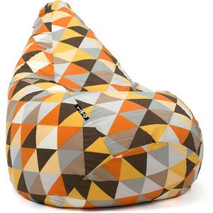 Кресло мешок GoodPoof Груша жаккард янтарь XL