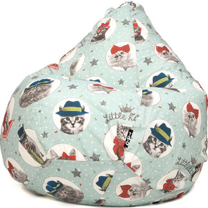 Кресло мешок GoodPoof Груша жаккард кошки XL