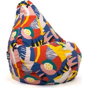 Кресло мешок GoodPoof Груша велюр XL папайя