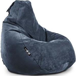 Кресло мешок GoodPoof Груша велюр сапфир 3XL