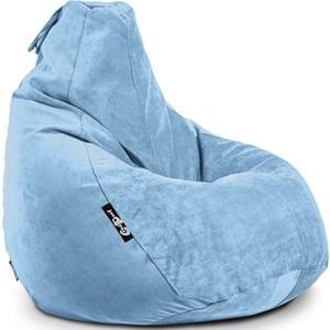 Кресло мешок GoodPoof Груша велюр аква 3XL