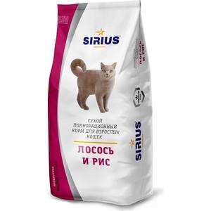 Сухой корм SIRIUS лосось и рис для взрослых кошек 10кг