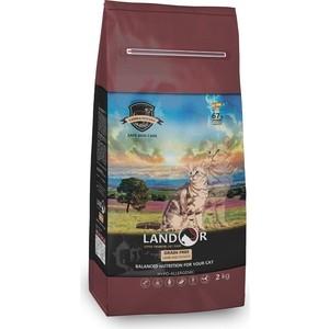 Сухой корм LANDOR Adult Cat Grain Free Lamb and Potato беззерновой гипоаллергенный с ягнёнком и картофелем для кошек 2кг